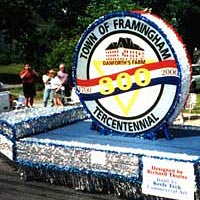 Tercentennial Float in the 1999 Flag Day Parade