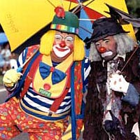Clowns in parade, 1998
