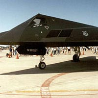 F-117 Stealth Fighter on display at Selridge Diamond Jubilee Air Show, June 1992