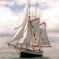Replica of the schooner Madeline was toured by Festival-goers in September 1999