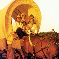 The Ingalls arrive in their covered wagon