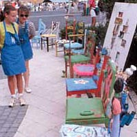 Chairs made by children in the Children and Chairs project