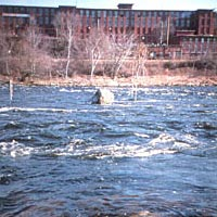 Amoskeag Millyard and Merrimack River