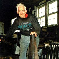 "Herb ""Old Smoky"" Evans, Blacksmith, April 1999"
