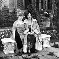 Gertrude Seiberling and Rosa Ponselle, noted soprano, at Stan Hywet Hall, ca. 1920