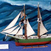 Model of Topsail Schooner O.J. HALE, built in Trenton, MI, 1874