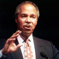 "Randall Robinson spoke on ""Making a Difference Internationally"" at the 1996 Symposium"