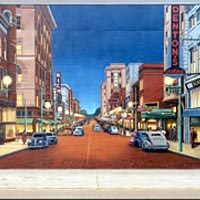 """Chillicothe Street - 1940's"" - Mural by Robert Dafford"