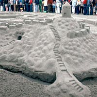 Sand fortress, July 1980