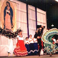 Ballet Folklorico Latin Reflection performs, December 1999