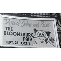A billboard ad for the Bloomsburg Fair from the 1970s