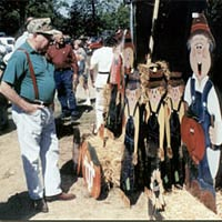 Visitor admires crafts at 1999 Festival
