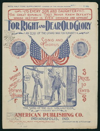 "For Right and Dear ""Old Glory"" [Sheet music]"