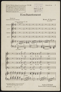 Enchantment: op. 17, no. 1. [vocal score]