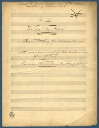 The voice of my beloved: three-part song for women's voices with accompaniment for two violins and pianoforte. [manuscript score]