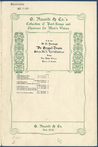 De gospel train git on bo'd litl' children : song for male voices. [vocal score]
