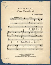 Whoop her up!: (with a whoop, la! la!). [vocal score]