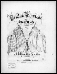 British volunteer's grand march [sheet music]