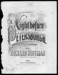 Night before Petersburgh, burlesque military fantasia [sheet music]