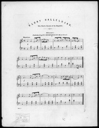 Glory hallelujah, the battle hymn of the republic [sheet music]