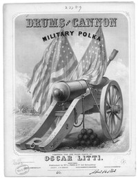 Drums and cannon, military polka [sheet music]