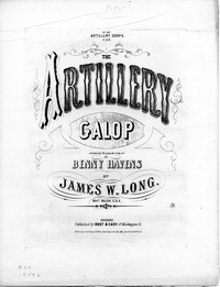 The Artillery galop [sheet music]