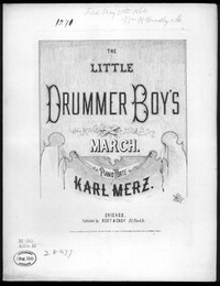 The Little drummer boy's march [sheet music]