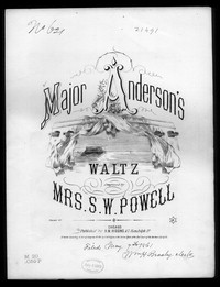 Major Anderson's waltz [sheet music]