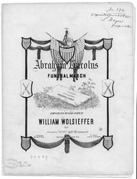 Abraham Lincoln's funeral march [sheet music]