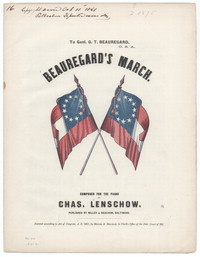 Beauregard march [sheet music]