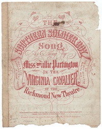The Southern soldier boy [sheet music]