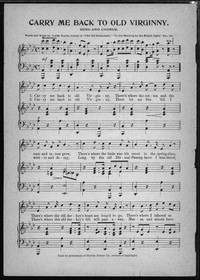 Carry me back to old Virginny [sheet music]