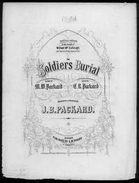 The Soldier's burial [sheet music]