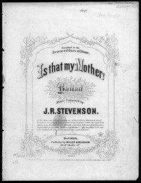Is that my mother? [sheet music]
