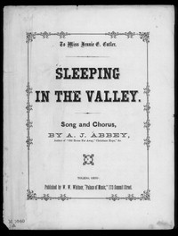 Sleeping in the valley [sheet music]