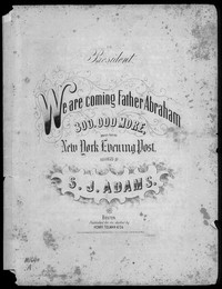 We are are coming father Abraham [sheet music]
