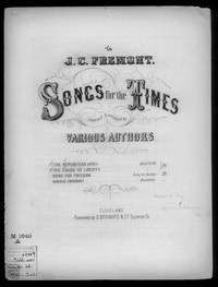 The Republican army and The Cause of liberty [sheet music]