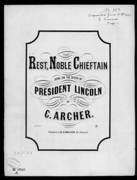 Rest, noble chieftain [sheet music]