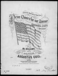 Three cheers for our banner [sheet music]