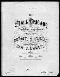 The Black brigade [sheet music]