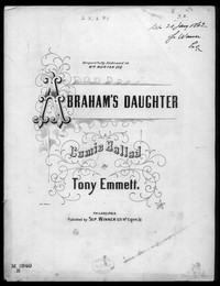 Abraham's daughter [sheet music]