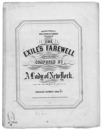 The Exile's farewell [sheet music]