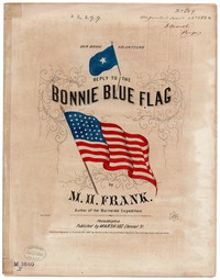 Answer to the bonnie blue flag [sheet music]