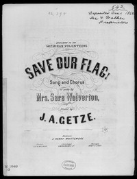 Save our flag [sheet music]