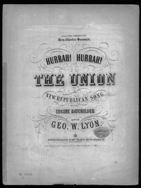 Hurrah! hurrah! the Union! [sheet music]