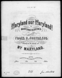Maryland! our Maryland [sheet music]
