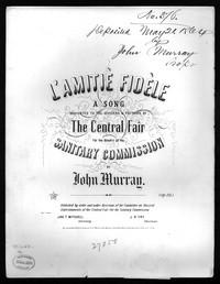 L'amitie fidele [sheet music]