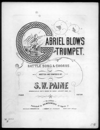 Gabriel blows the trumpet [sheet music]