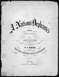 The Nation's orphan [sheet music]