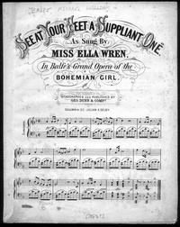 See at your feet a suppliant one [sheet music]